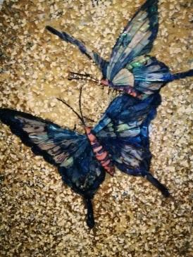 hand-made glass mosaic